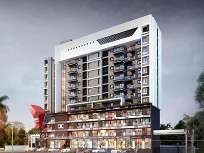 architectural-design-Bangalore-architectural-walkthrough-freelance-services-shopping-apartment-night-view-3d-architecture-studio