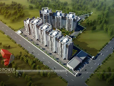 exterior-render-3d-walkthrough-freelance-service-architectural-3d-walkthrough-freelance-Bangalore-apartment-birds-eye-view-day-view