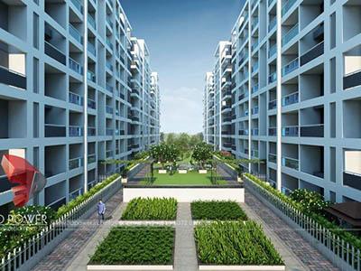 Bangalore-3d-model-architecture-3d-Walkthrough-service-company-evening-view-township-isometric