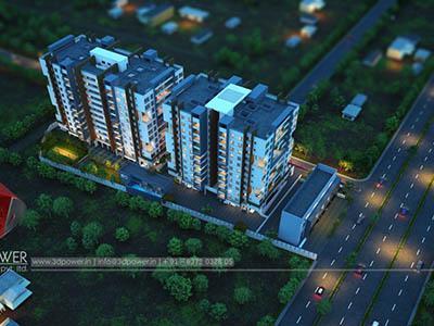 Bangalore-Bird-eye-township-apartment-virtual-walk-through3d-real-estate-Project-rendering-Architectural-3dWalkthrough-service