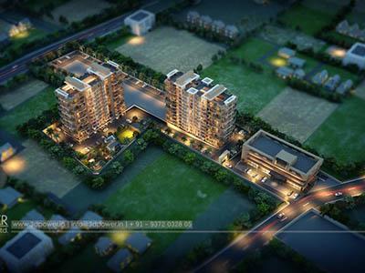 Bangalore-Bird-eye-view-township-playground-Walkthrough-service-animation-services