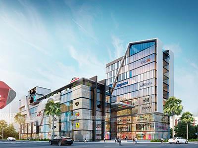Bangalore-Shopping-complex-3d-design-side-view-3d-model-visualization-architectural-visualization-3d-Walkthrough-service-company