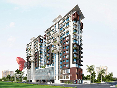 Bhubaneswar-3d-rendering-architecture-photorealistic-architectural-rendering-apartments-eye-level-view-day-view