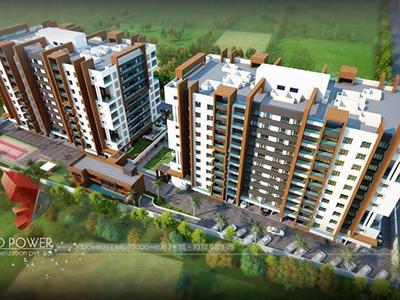 Ghaziabad-big-apartments-3d-elevation-design-service-flythrough-animation-company-studio-bird-view