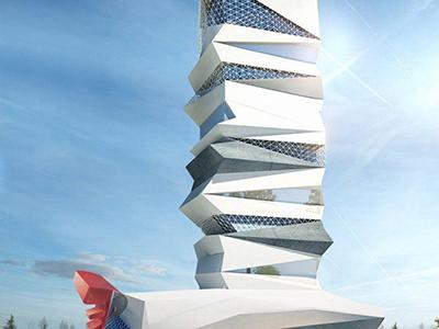 Ghaziabad-unique-high-rise-apartment-elevation-3d-architectural-visualization-virtual-walk-through