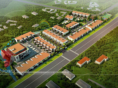 Gwalior-3d-view-service-3d-rendering-3d-view-township-birds-eye-view