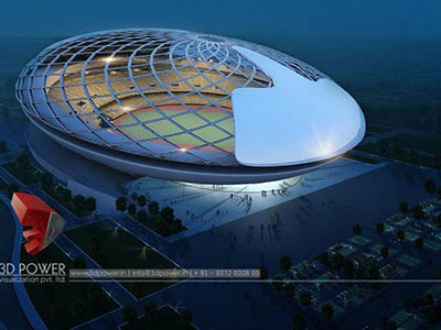 Hyderabad-3d-model-architecture-3d-architectural-drawings-sports-stadium-birds-eye-view-night-view