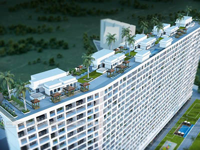 Hyderabad-Highrise-apartments-top-view-multiple-flats-3d-design3d-model-visualization-architectural-visualization-3d-walkthrough-company