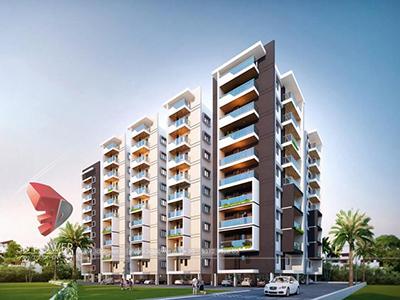 Hyderabad-Apartment-Parking-garden-bird-view-rendering-service-provider-animation-services