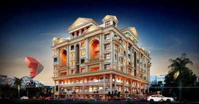 Hyderabad-architect-design-firm-3d-rendering-service-provider-company-studio-apartment-night-view-eye-level-virtual-rendering-service-provider