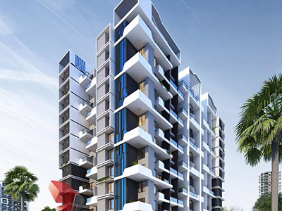 Hyderabad-Architecture-3d-walkthrough-service-provider-animation-company-warms-eye-view-high-rise-apartments-night-view