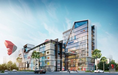 Hyderabad-Shopping-complex-3d-design-side-view-3d-model-visualization-architectural-visualization-3d-walkthrough-service-provider-company