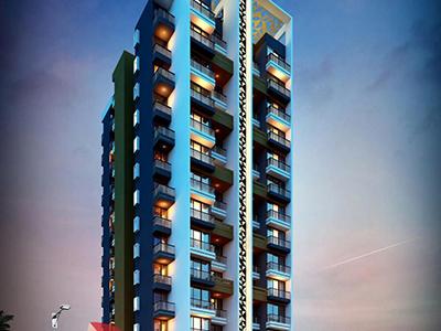 Hyderabad-virtual-walk-through-3d-walkthrough-service-provider-architecture-services-building-apartment-evening-view-eye-level-view