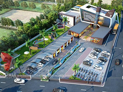 3d-architectural-rendering-design-services-shopping-buildings-parking-birds-eye-view-Hyderabad