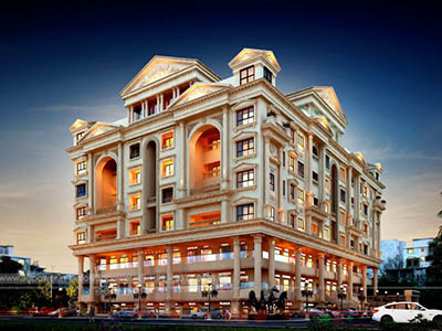 Hyderabad-Commercial-cum-residential-apartments-3d-design-architectural-rendering
