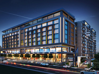 Hyderabad-Shopping-complex-3d-real-estate-walkthrough-visualization-3d-Architectural-animation-services