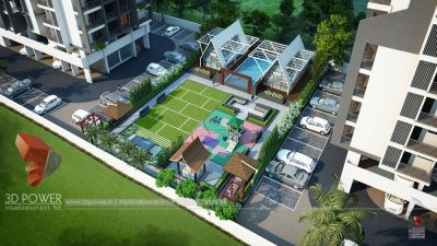 Hyderabad-Top-view-parking-apartments-real-estate-3d-rendering3d-model-visualization-architectural-visualization-3d-real-estate-walkthrough-company