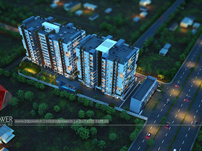 Hyderabad-Bird-eye-township-apartment-virtual-walkthrough-freelance3d-real-estate-Project-walkthrough-freelance-Architectural