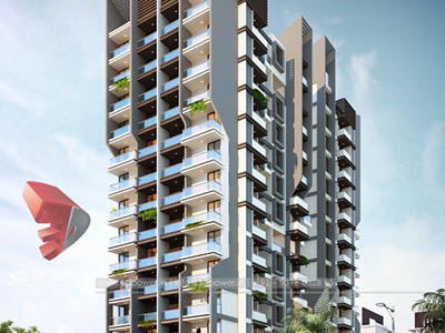 Hyderabad-Elevation-front-view-apartments-flats-gallery-garden-freelance-Architectural-3dwalkthrough-freelance-company