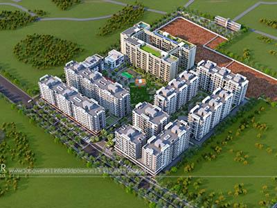 Hyderabad-Top-view-township-3d-walkthrough-freelance-Architectural-walkthrough-freelance-real-estate-3d-animation-company