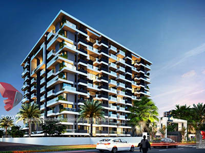 Hyderabad-Apartments-elevation-3d-design-rendering-company-animation-services
