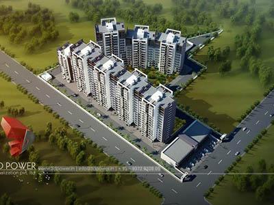 exterior-render-3d-walkthrough-freelance-service-architectural-3d-walkthrough-freelance-Hyderabad-apartment-birds-eye-view-day-view