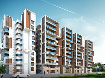 Hyderabad-Apartments-design-front-view-Walkthrough-service-animation-services