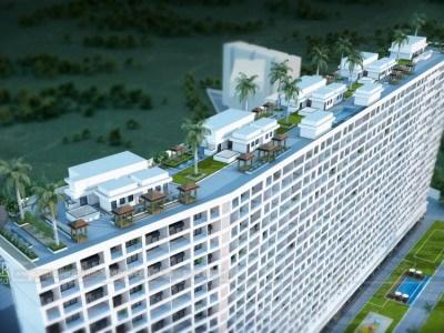 Hyderabad-Highrise-apartments-top-view-multiple-flats-3d-design3d-model-visualization-architectural-visualization-3d-Walkthrough-service-company