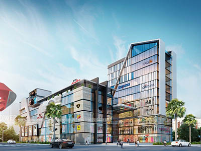 Hyderabad-Shopping-complex-3d-design-side-view-3d-model-visualization-architectural-visualization-3d-Walkthrough-service-company
