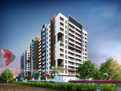 Hyderabad-township-side-view-architectural-rendering-real-estate-3d-Walkthrough-service-animation-company