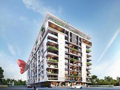 Kolkata-3d-Architectural-animation-services-3d-real-estate-walkthrough-bird-eye-view-apartment