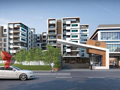 Lucknow-apartments-day-view3d-walkthrough-animation-company-3d-walkthrough-presentation-studio