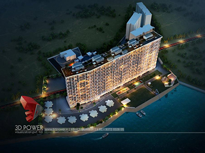 Lucknow-buildings-night-view-bird-eye-view-3d-Visualization-photorealistic-renderings-apartments