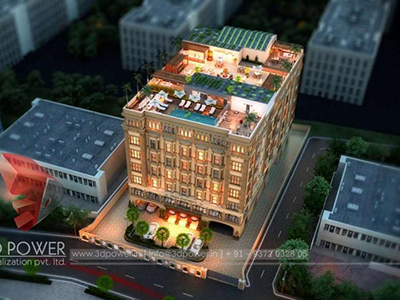 resedential-building-birds-Lucknow-eye-view-elevation-architectural-rendering-services-architectural-renderings