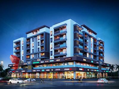 Nizamabad-3d-animation-walkthrough-3d-walkthrough-presentation-apartments-night-view