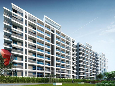 Patna-3d rendering firm-3d-Architectural-animation-services-apartments-warms-eye-view-day-view