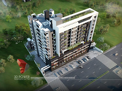 3d-animation-rendering-services-3d-rendering-company-animation-company-apartments-Pune-birds-eye-view