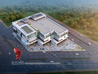 Pune-3d-animation-apartment-rendering-architectural-designing-complex-birds-eye-view-day-view