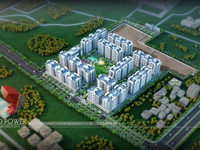 Pune-3d-rendering-company-Architectural-rendering-company-animation-company-birds-eye-view-apartments-smravati