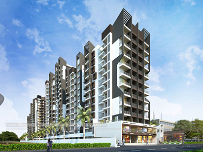 Pune-Highrise-apartments-shopping-complex-apartment-virtual-flythrough