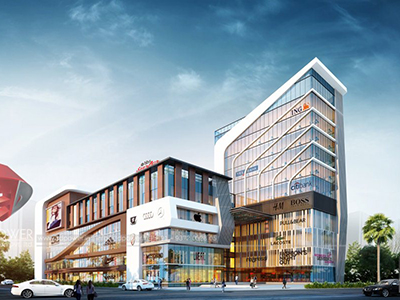 Pune-Shopping-mall-complex-3d-elvation-3d-desing-and-rendering-for-architects-rendering-company-animation-services