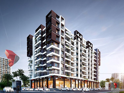 Pune-Side-view-3d-architectural-rendering-3d-rendering-company-animation-3d-Architectural-animation-services