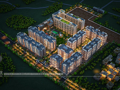 Pune-Top-view-township-beutiful-elevation-3d-design-apartment-virtual-flythrough