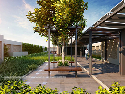 Pune-parking-3d-elevation-walking-girl-3d-view-architectural-flythrugh-real-estate-3d-rendering-company-animation-company