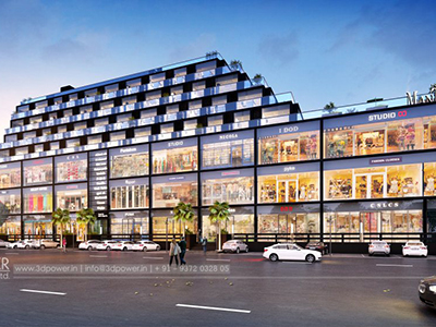 pune-Mall-shoping-complex-front-elevation3d-walkthrough-visualization-3d-Architectural-animation-services