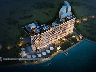 3d-rendering-service-provider-company-architecture-services-buildings-Pune-exterior-designs-night-view-birds-eye-view