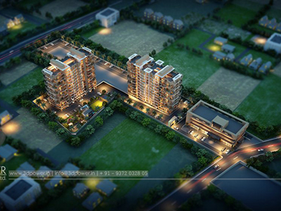 Pune-Bird-eye-view-township-playground-rendering-service-provider-animation-services