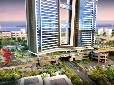 Pune-3d-visualization-comapany-companies-architectural-visualization-comapany-apartment-elevation-birds-eye-view-high-rise-buildings
