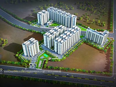 Pune-bird-eye-view-flythrough-33d-design-township3d-real-estate-Project-flythrough-Architectural-3d3d-walkthrough-company