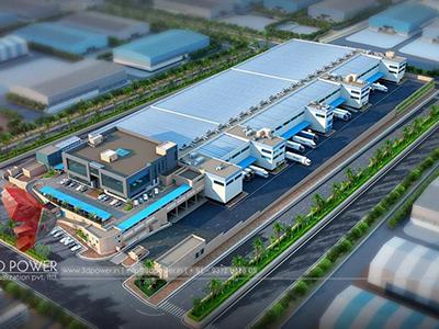 3d-architectural-walkthrough-freelance-3d-architectural-walkthrough-freelance-services-industrial-plant-birds-eye-view-Pune